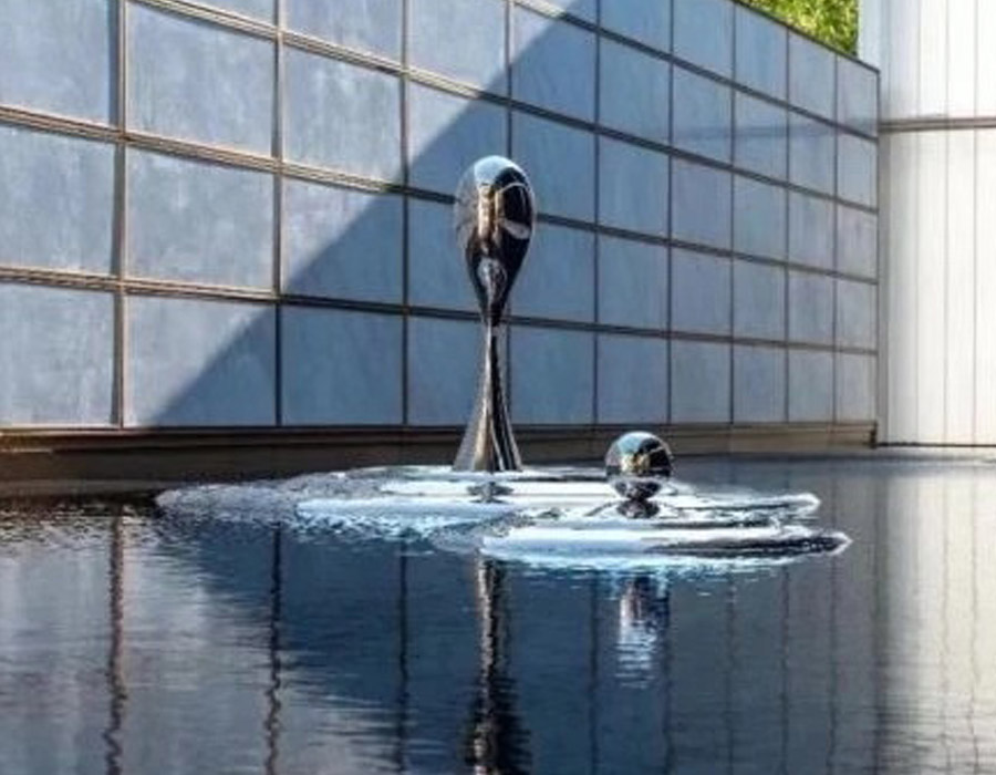 bonnie sculpture-Stainless Steel Water Drop Sculpture Water Feature Sculpture