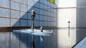 bonnie sculpture-Stainless Steel Water Drop Sculpture Water Feature Sculpture770x430