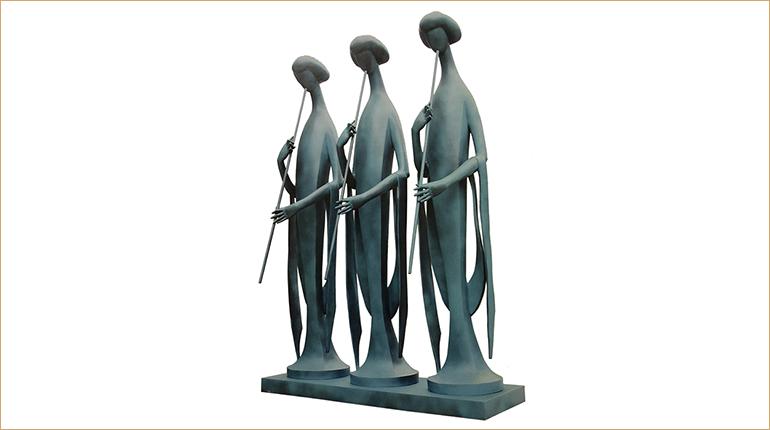 bonnie sculpture-Wrought Copper Ancient Female Sculpture 770x430