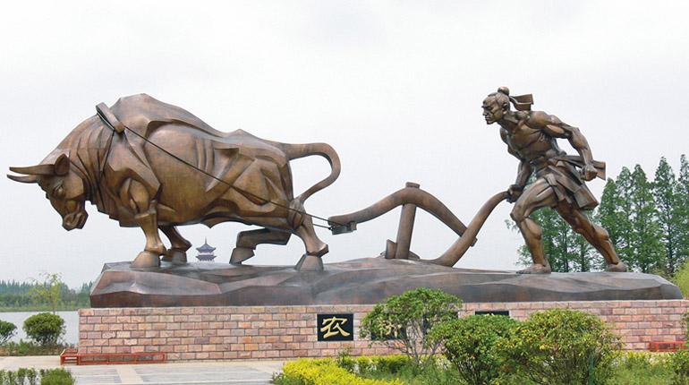 bonnie sculpture-Wrought Copper Sculpture Farming Sculpture 770x430