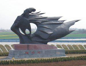 bonnie sculpture-Wrought Copper Sculpture Historical Man Sculpture900x700