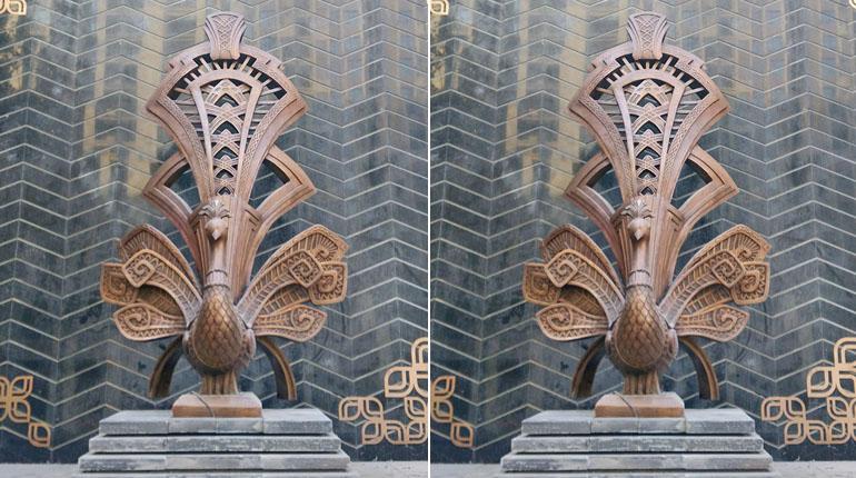 bonnie sculpture-Wrought Copper Sculpture Peacock Sculpture770x430