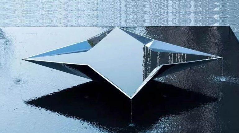 bonniesculpture-Metal Sculpture Stainless Steel Modern Geometric Sculpture
