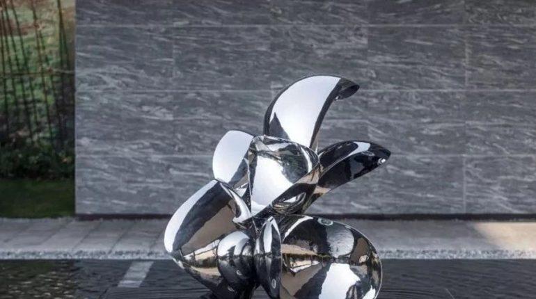 bonnie sculpture-Modern Stainless Steel Sculpture Water Feature Sculpture