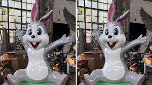 bonniesculpture-Resin Fiber Cartoon Rabbit Sculpture 770x430