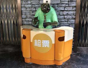 bonnie sculpture-Resin Fiber Cartoon Sloth Sculpture