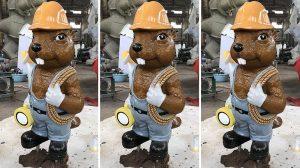 bonnie sculpture-Resin Fiber Cartoon Squirrel Sculpture 770x430