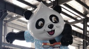 bonniesculpture-Resin Fiber & Stainless Steel Cartoon Panda Sculpture 770x430