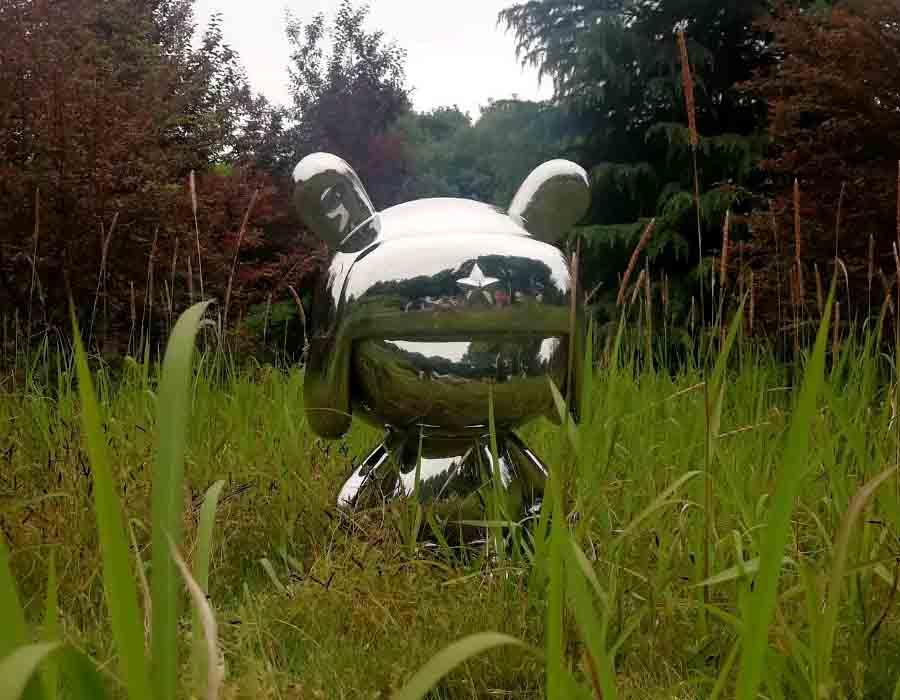 bonniesculpture-Stainless Steel Cartoon Rabbit Sculpture Cartoon Statue