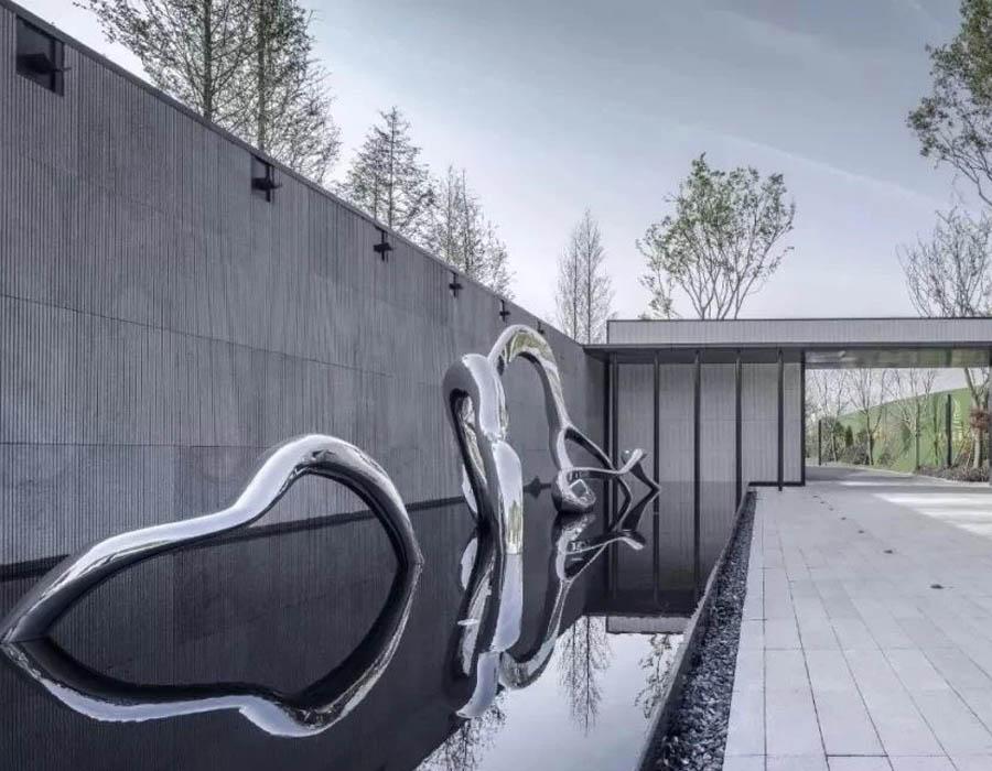 bonniesculpture-Stainless Steel Modern Metal Sculpture