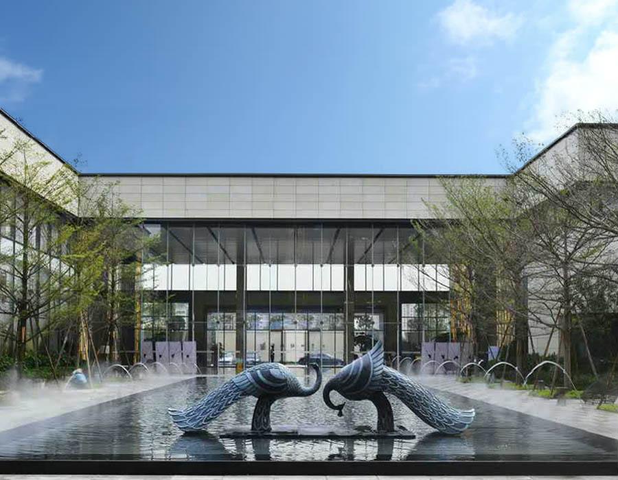 bonniesculpture-Stainless Steel & Resin Fiber Peacock Sculpture
